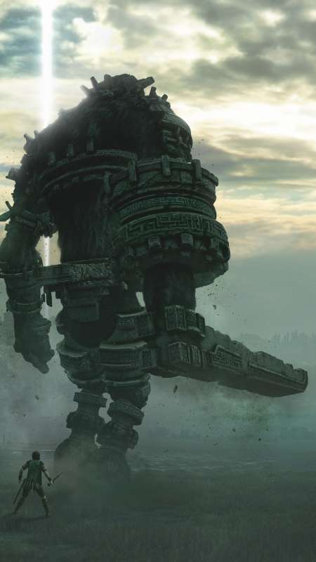 Shadow of the Colossus Mobiele Verticaal achtergrond
