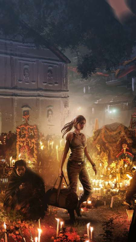 Shadow of the Tomb Raider Mobiele Verticaal achtergrond
