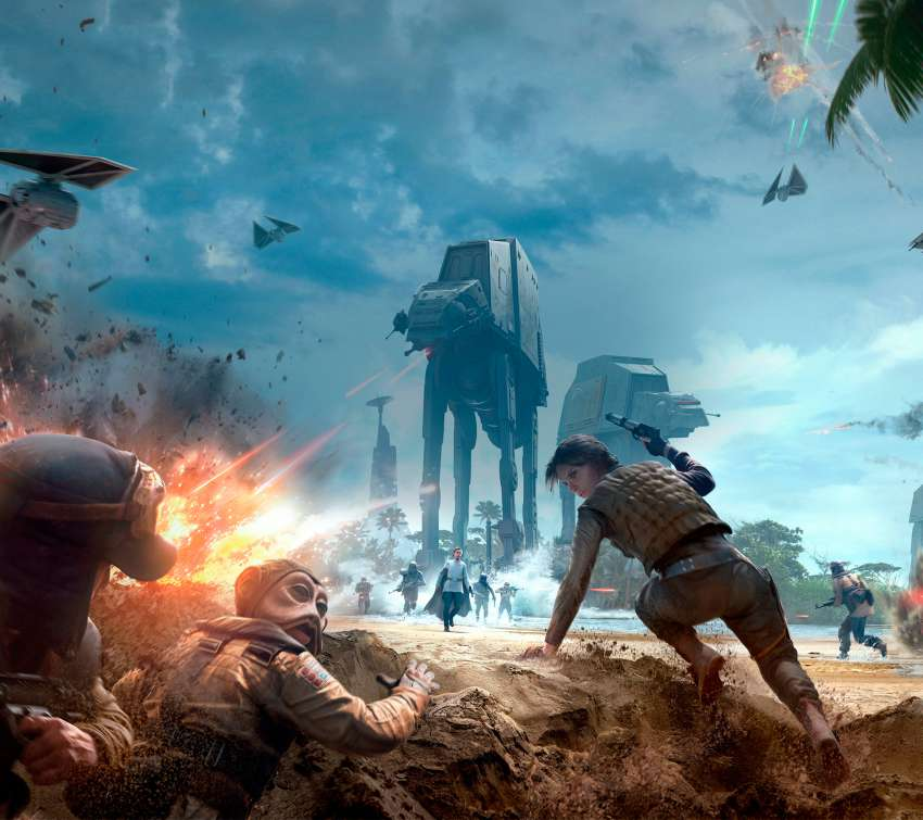Star Wars Battlefront Rogue One: Scarif achtergrond