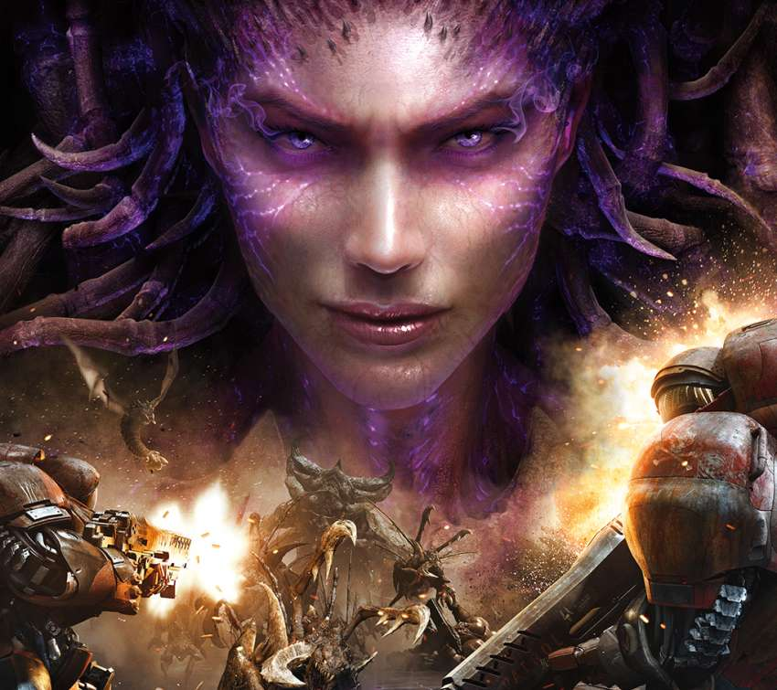 StarCraft 2: Heart of the Swarm Mobiele Horizontaal achtergrond