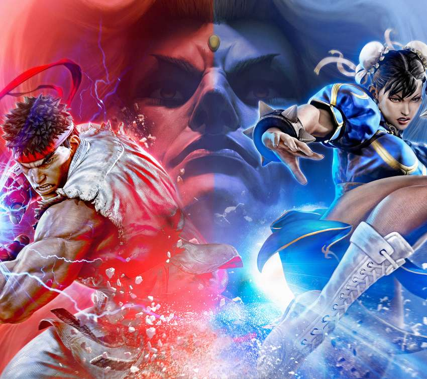 Street Fighter 5 Mobiele Horizontaal achtergrond