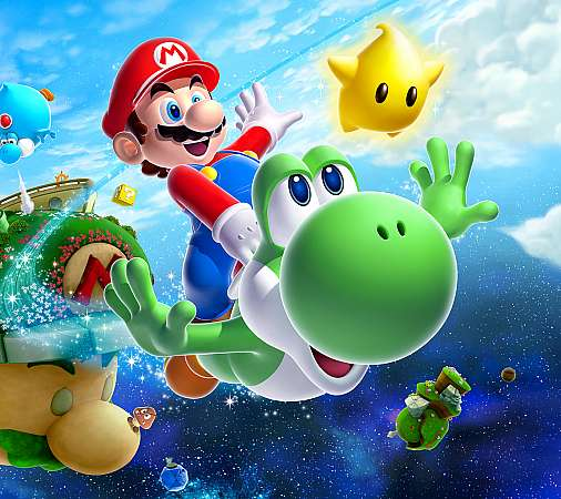 Super Mario Galaxy 2 Mobiele Horizontaal achtergrond
