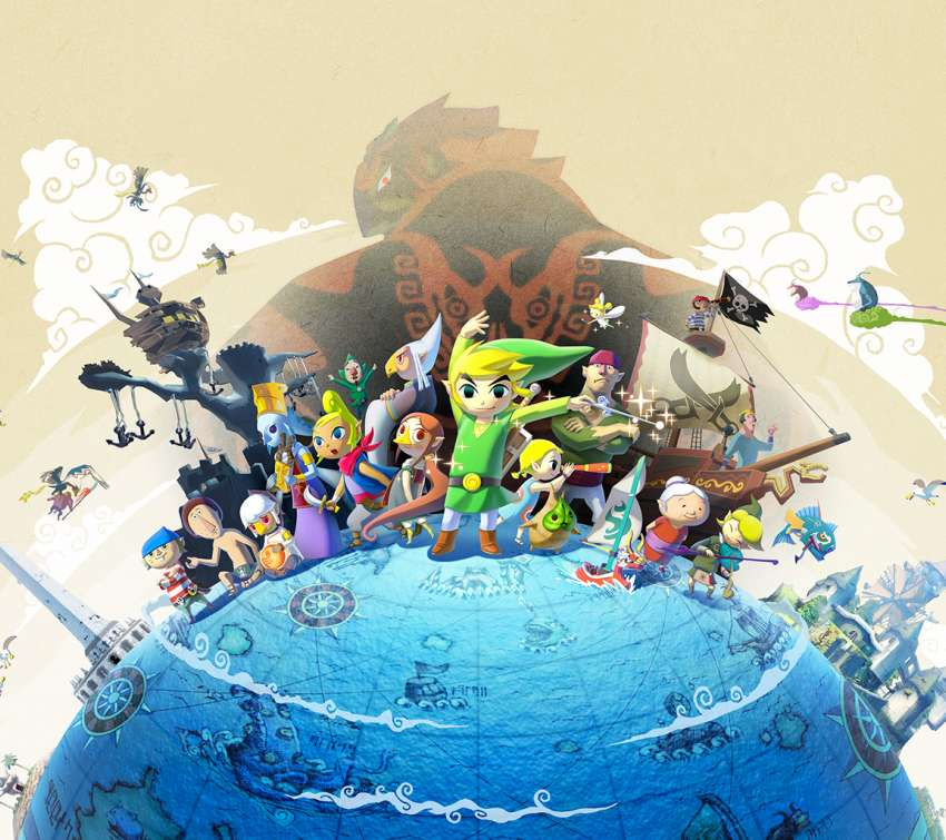The Legend of Zelda: The Wind Waker HD Mobiele Horizontaal achtergrond