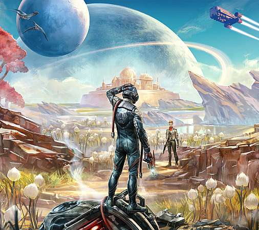 The Outer Worlds Mobiele Horizontaal achtergrond