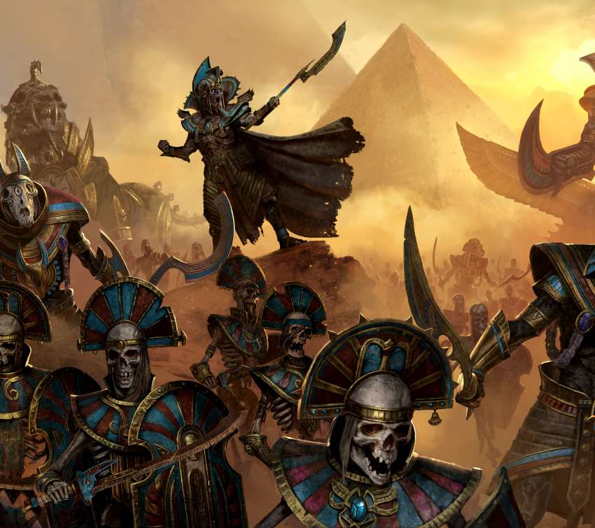 Total War: Warhammer 2 - Rise of the Tomb Kings Mobiele Horizontaal achtergrond