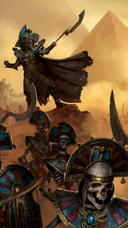 Total War: Warhammer 2 - Rise of the Tomb Kings Mobiele Verticaal achtergrond