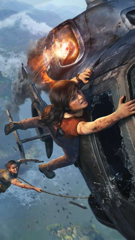 Uncharted: The Lost Legacy Mobiele Verticaal achtergrond