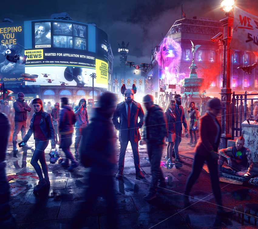Watch Dogs: Legion Mobiele Horizontaal achtergrond