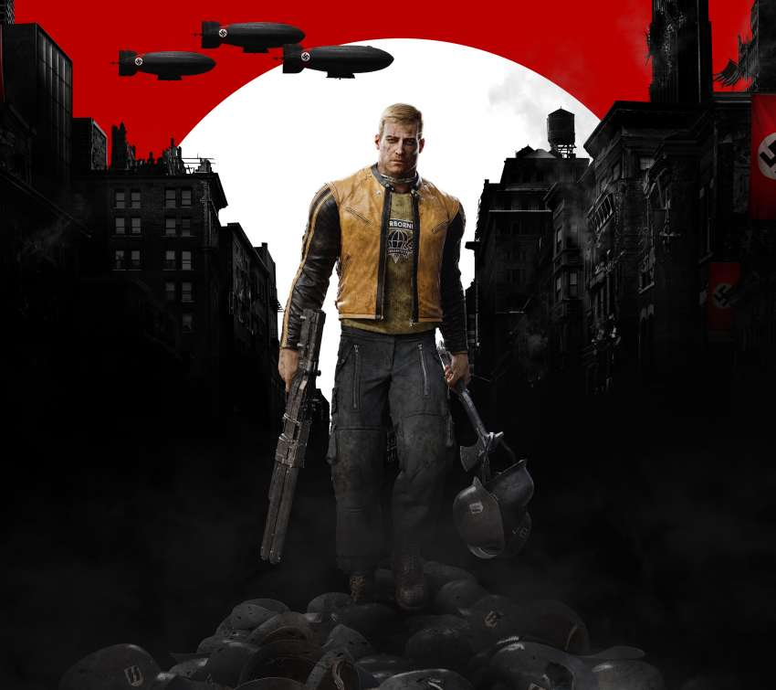 Wolfenstein 2: The New Colossus Mobiele Horizontaal achtergrond
