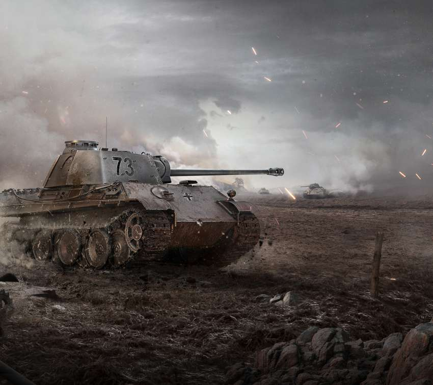 World of Tanks Mobiele Horizontaal achtergrond