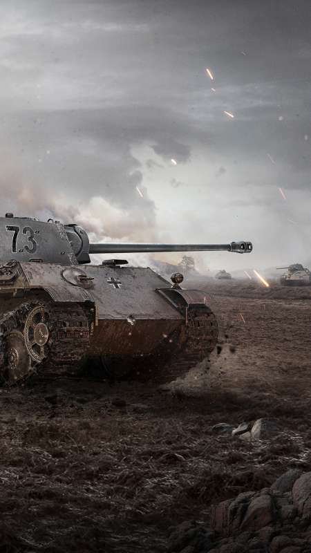 World of Tanks Mobiele Verticaal achtergrond