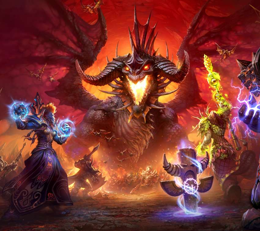 World of Warcraft Mobiele Horizontaal achtergrond