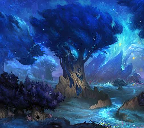 World of Warcraft: Shadowlands Mobiele Horizontaal achtergrond