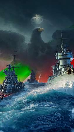 World of Warships Mobiele Verticaal achtergrond