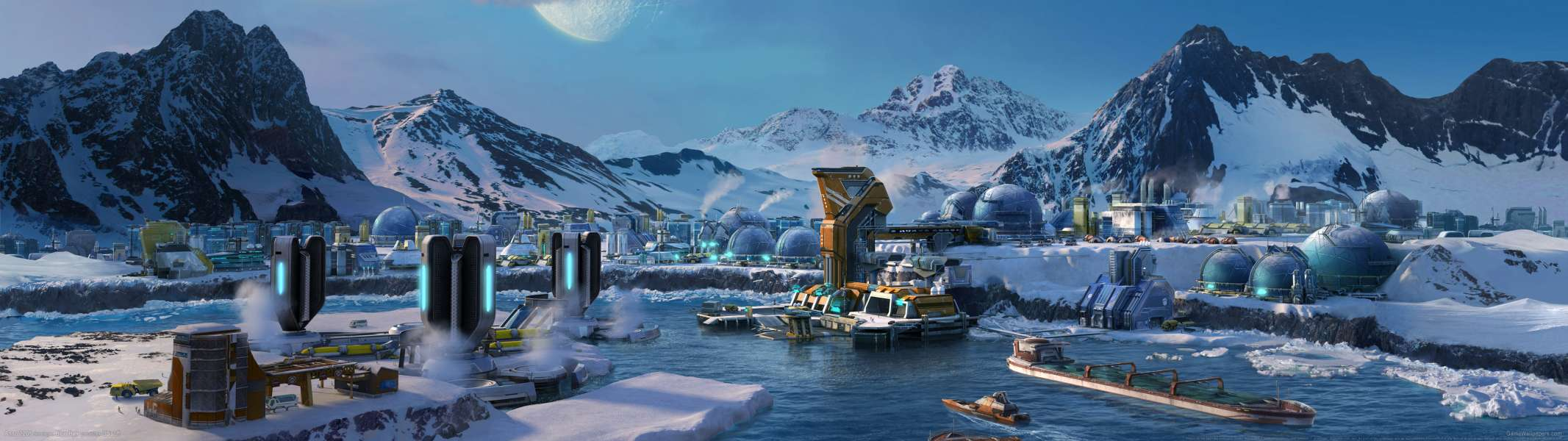 Anno 2205 dual screen achtergrond