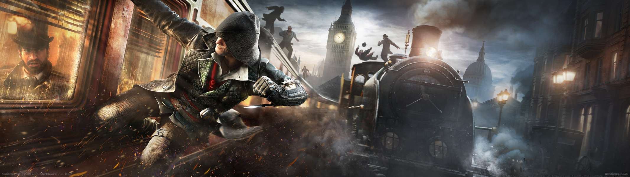 Assassin's Creed: Syndicate dual screen achtergrond