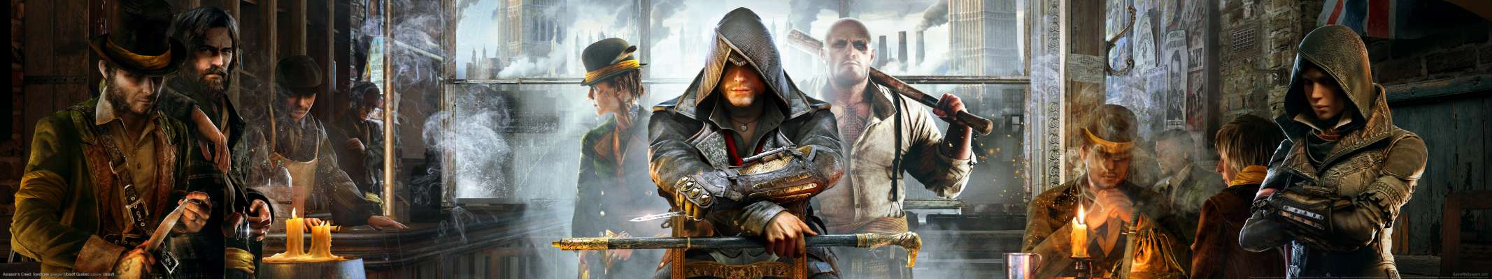 Assassin's Creed: Syndicate triple screen achtergrond