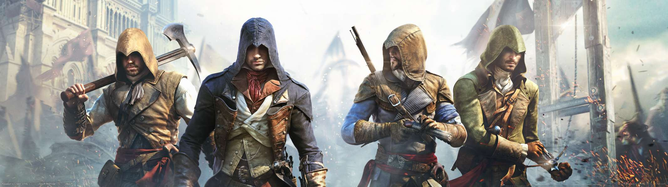 Assassin's Creed: Unity dual screen achtergrond