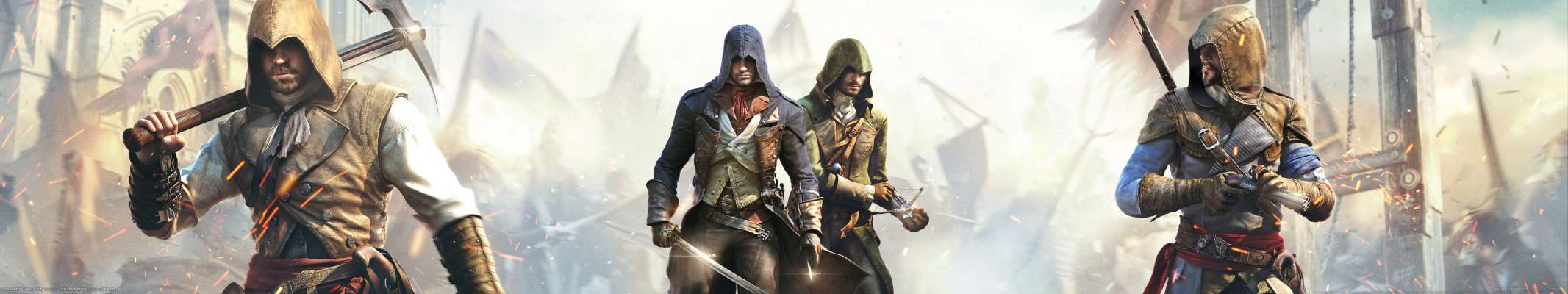 Assassin's Creed: Unity triple screen achtergrond