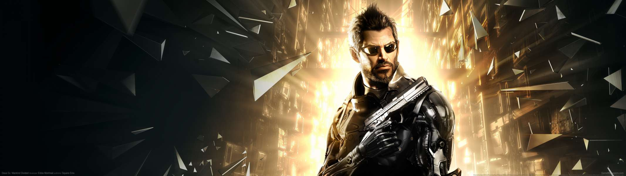 Deus Ex: Mankind Divided dual screen achtergrond