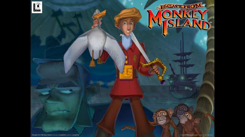 Escape from Monkey Island achtergrond