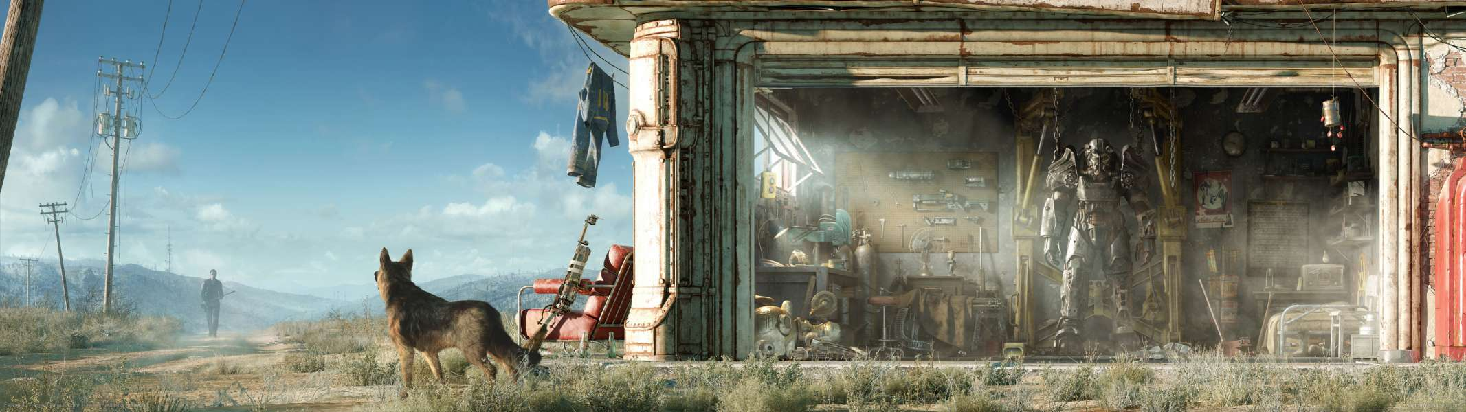 Fallout 4 dual screen achtergrond