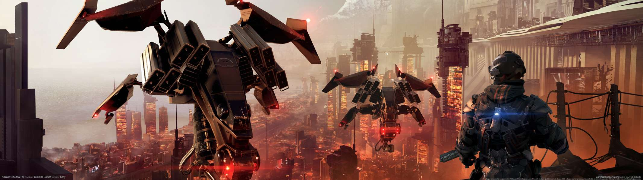Killzone: Shadow Fall dual screen achtergrond