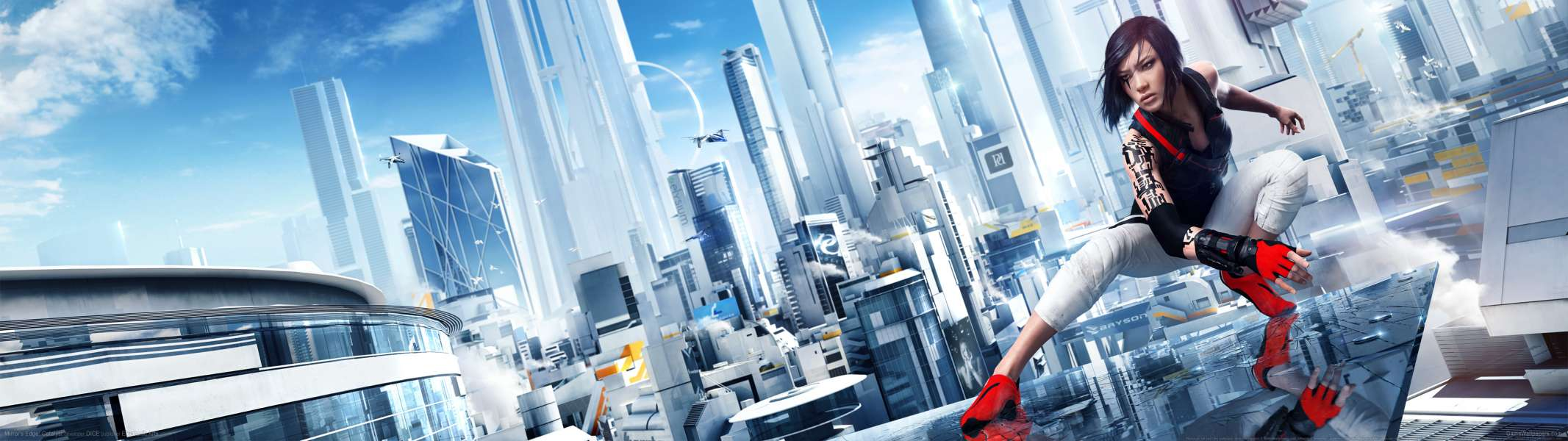 Mirror's Edge: Catalyst dual screen achtergrond