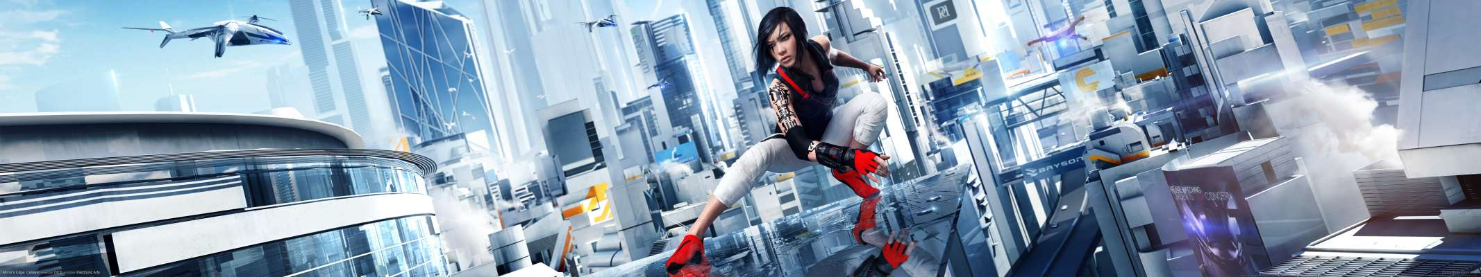 Mirror's Edge: Catalyst triple screen achtergrond