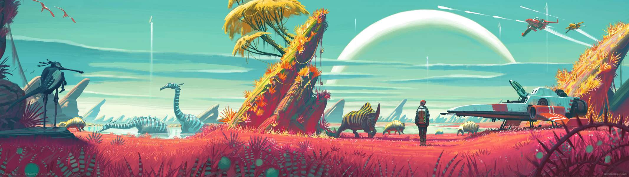 No Man's Sky dual screen achtergrond