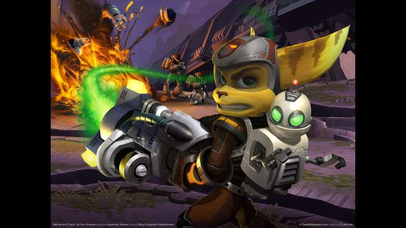 Ratchet and Clank: Up Your Arsenal achtergrond 01