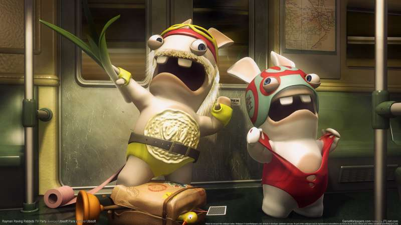 Rayman Raving Rabbids TV Party achtergrond 06