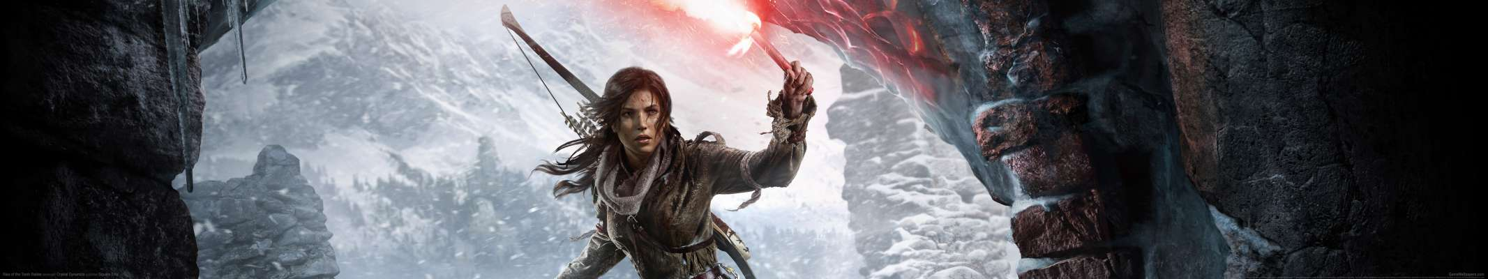 Rise of the Tomb Raider triple screen achtergrond