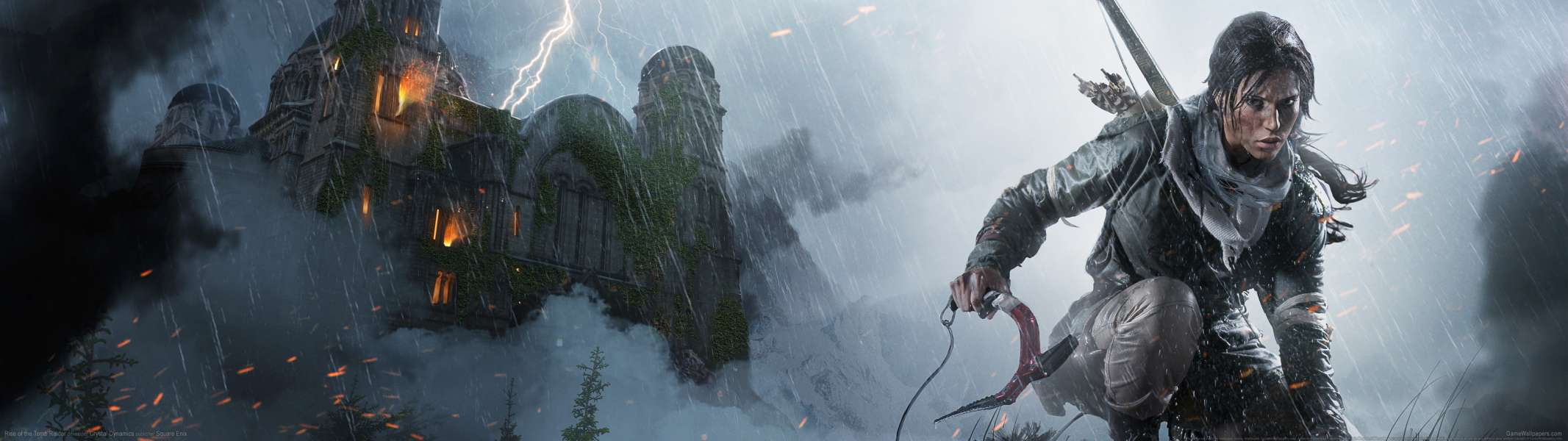 Rise of the Tomb Raider dual screen achtergrond