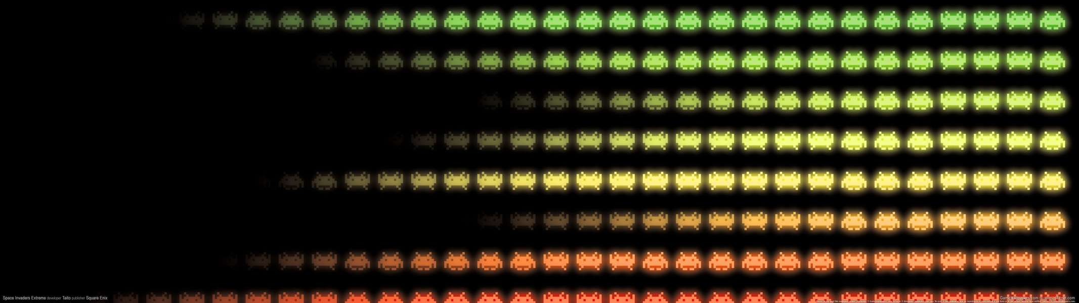 Space Invaders Extreme dual screen achtergrond
