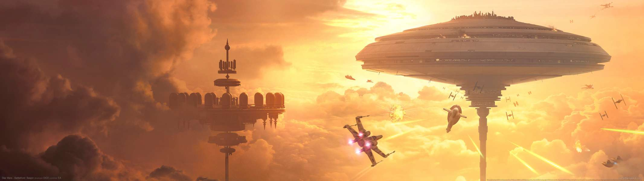 Star Wars - Battlefront: Bespin dual screen achtergrond