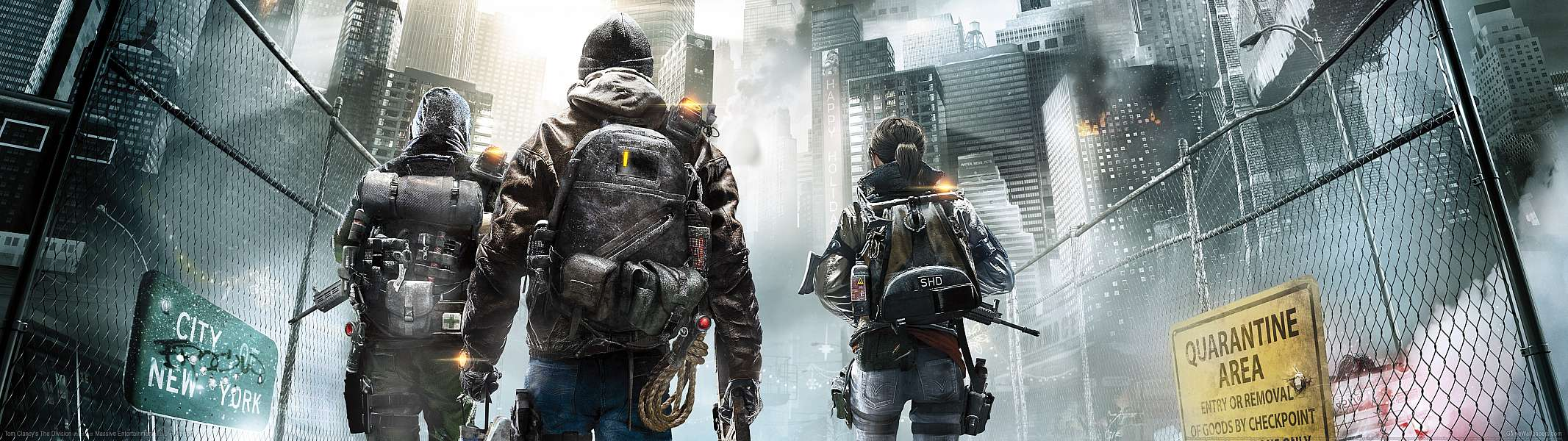 Tom Clancy's The Division dual screen achtergrond