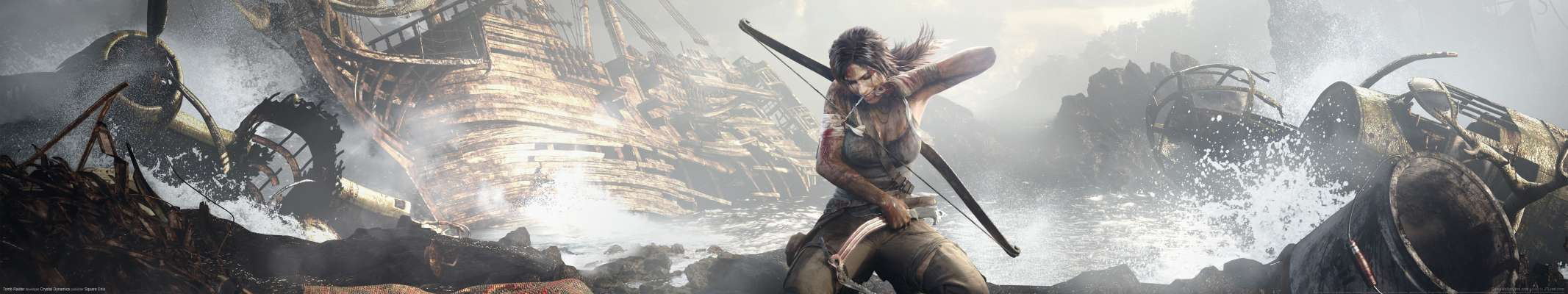Tomb Raider triple screen achtergrond