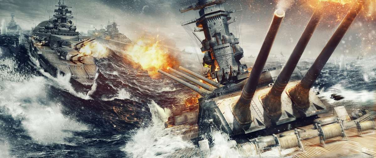 World of Warships ultrawide achtergrond 02