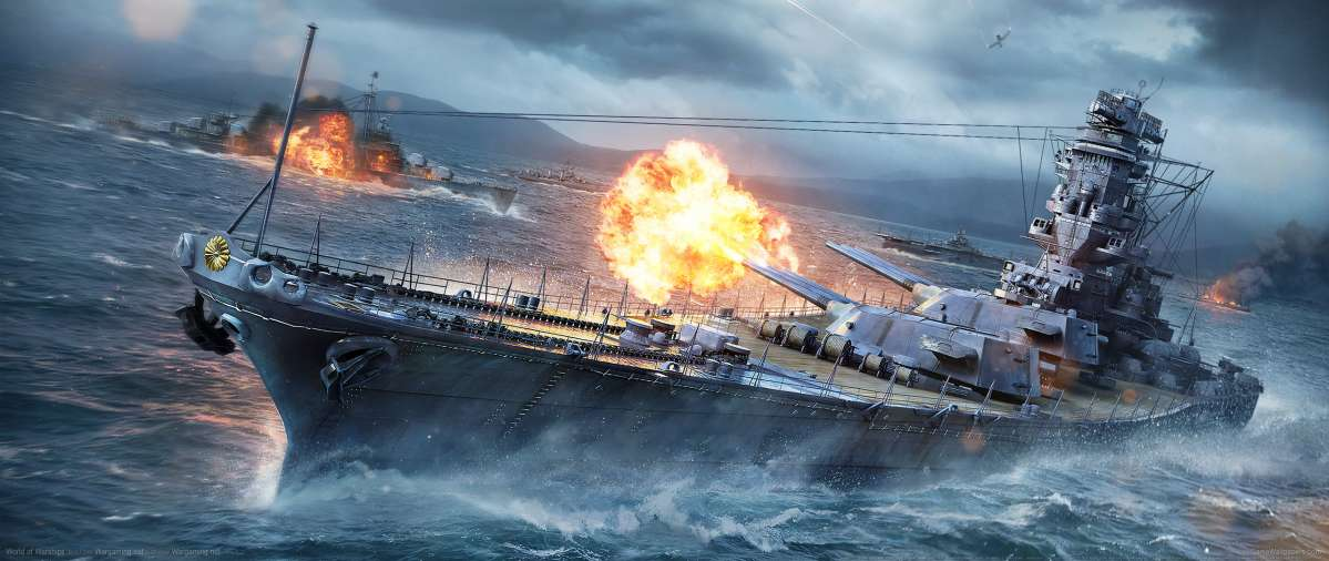 World of Warships ultrawide achtergrond 04