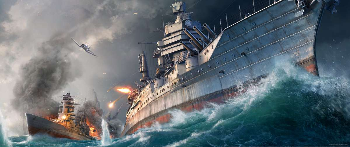 World of Warships ultrawide achtergrond 05