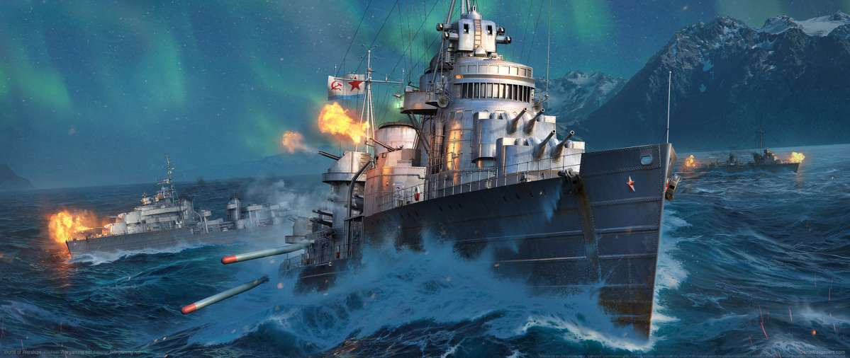 World of Warships ultrawide achtergrond 07