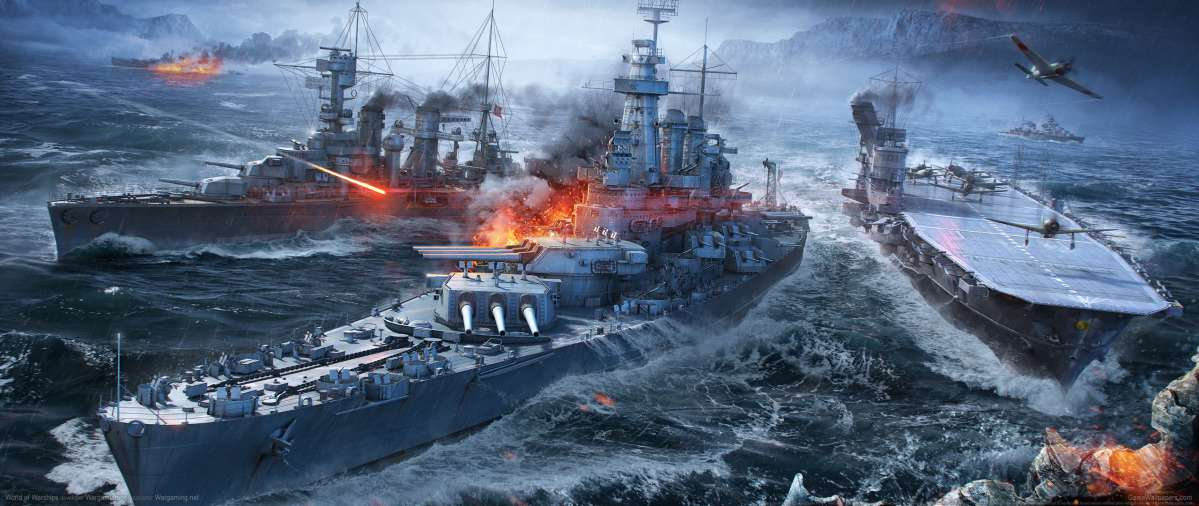 World of Warships ultrawide achtergrond 09