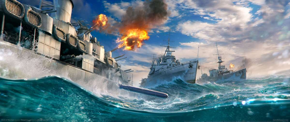 World of Warships ultrawide achtergrond 15