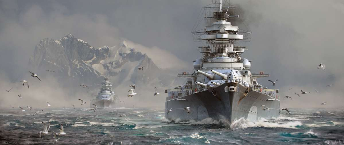 World of Warships ultrawide achtergrond 16