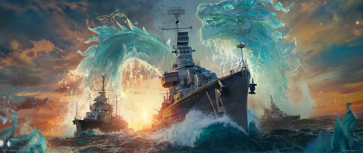World of Warships ultrawide achtergrond 17