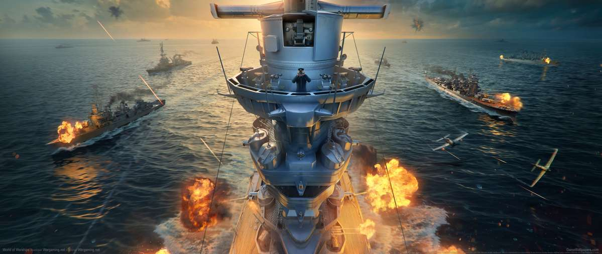 World of Warships ultrawide achtergrond 23