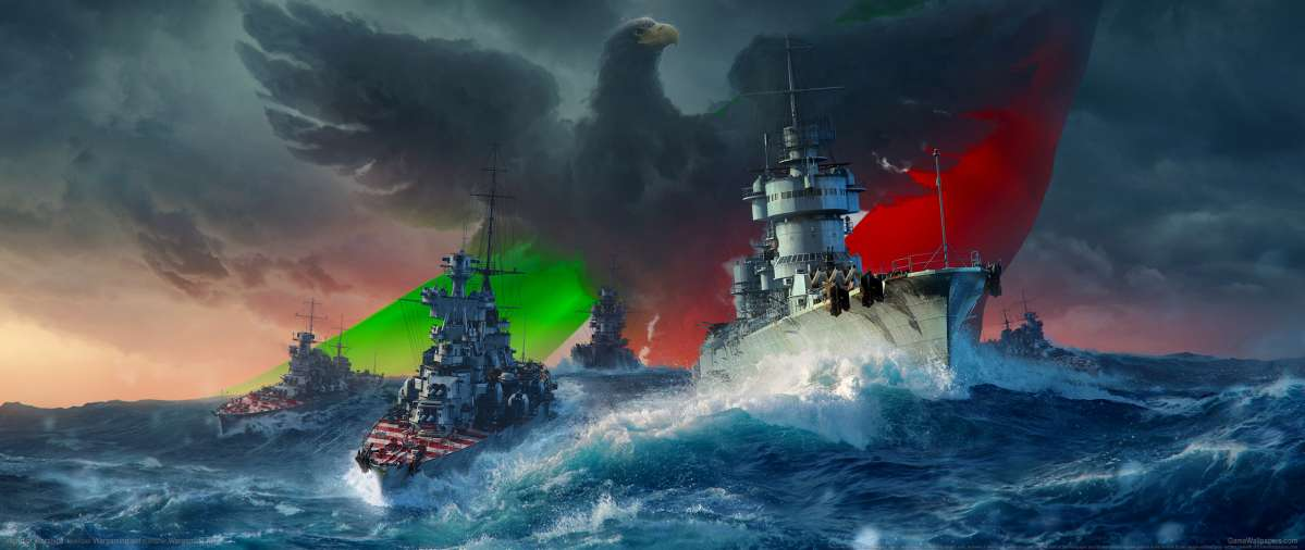 World of Warships ultrawide achtergrond 25